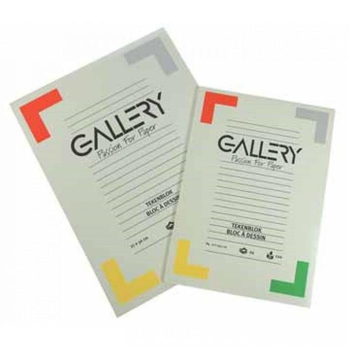 GALLERY Tekenblok 120gr 27x36 cm 24 vel