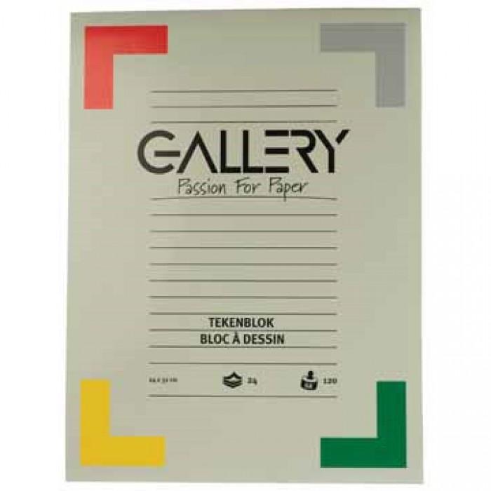 GALLERY Tekenblok 120gr 24x32cm  24 vel