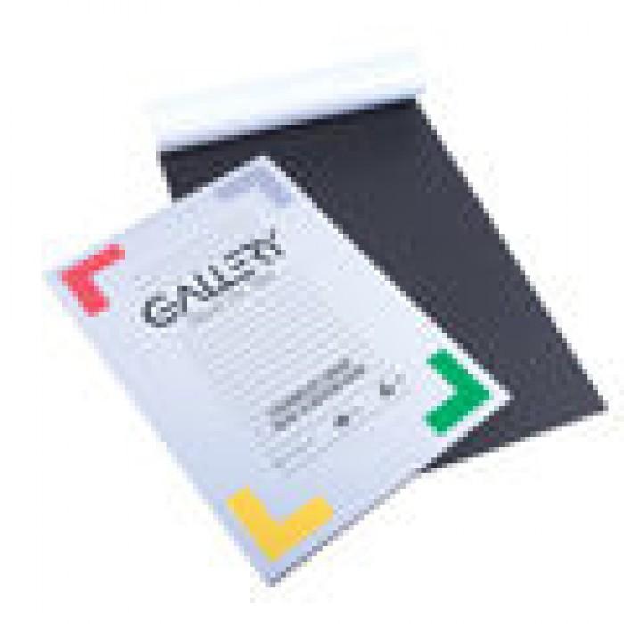 GELLERY Blok Zwart Papier 120gr 20vel A4