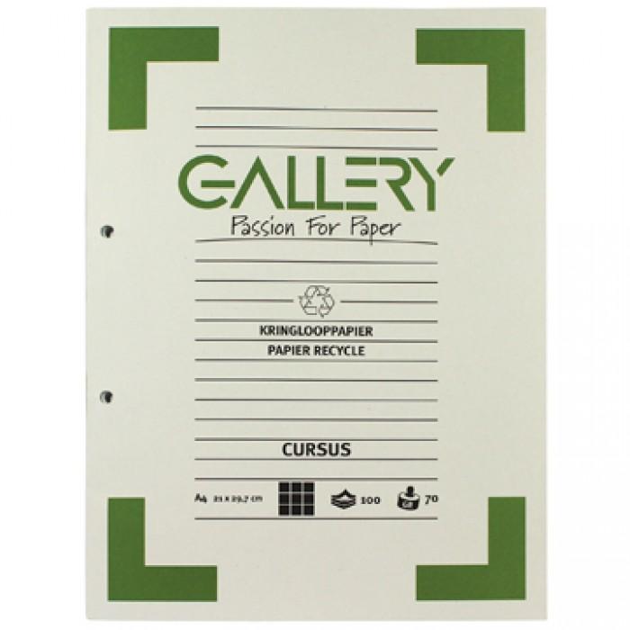 GALLERY Cursusblok Recyclage A4 Geruit