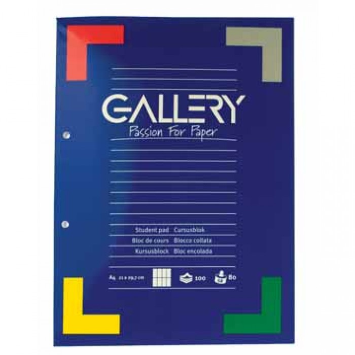GALLERY Cursusblok Comercieel Geruit A4 70gr