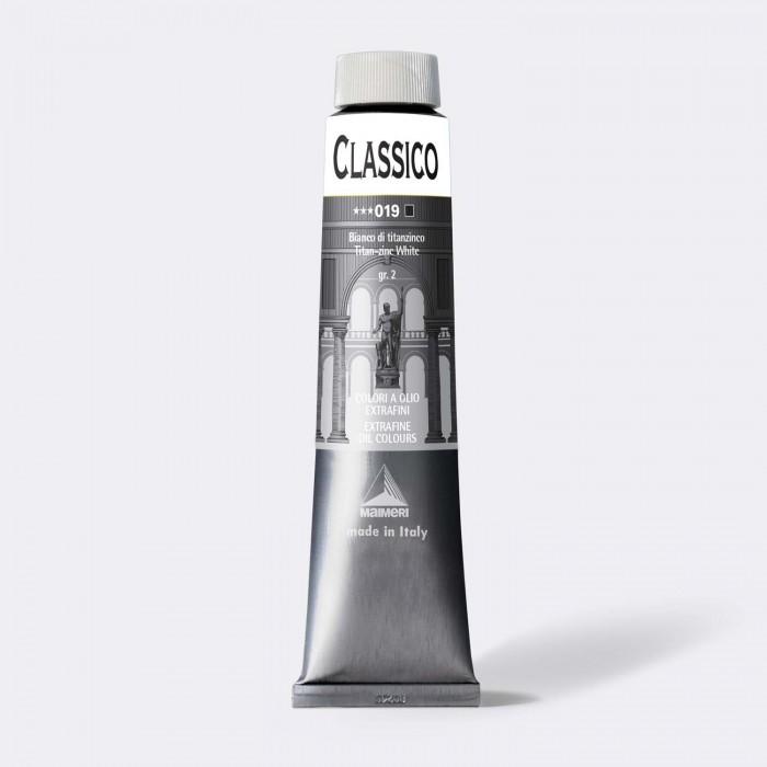 CLASSICO Olieverf 200ml  Titaan-Zink Wit
