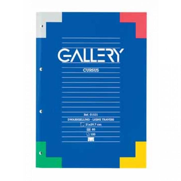 GALLERY Cursusblok 70gr A4 Gelijnd 4G