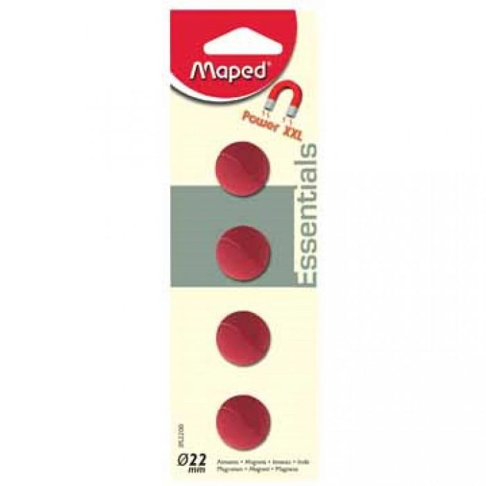 MAPED 4 Magneten 22mm Assorti