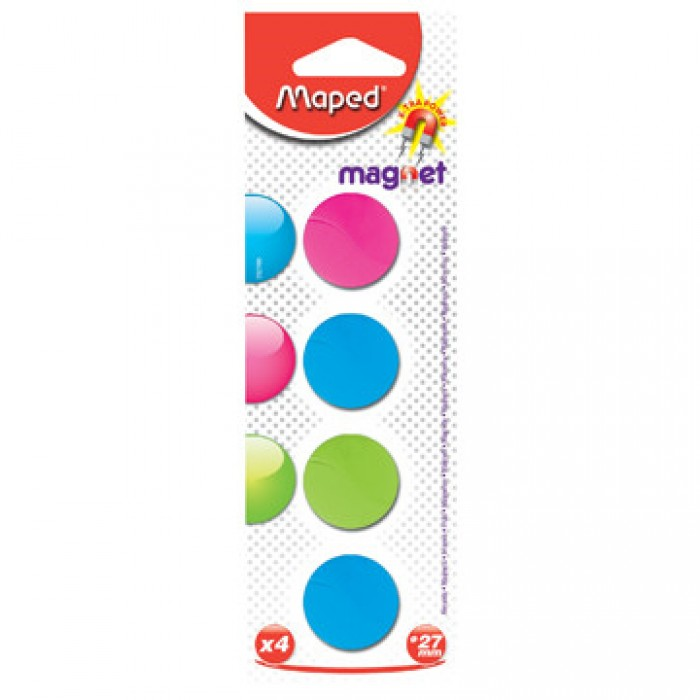 MAPED 4 Magneten 27mm Assorti
