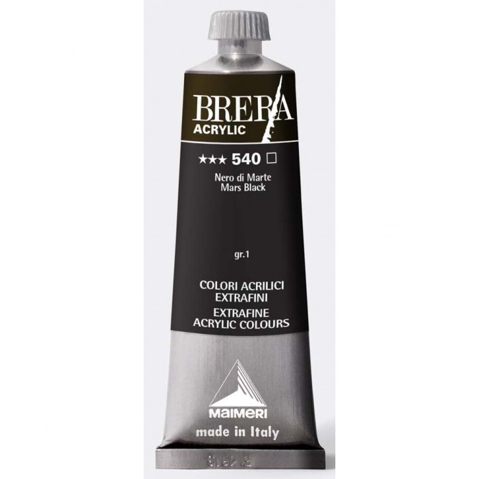 BRERA Acrylverf 60ml Serie 1 Mars Zwart