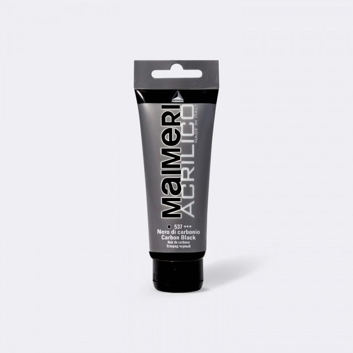 MAIMERI Acrilico 200ml Zwart Carbon