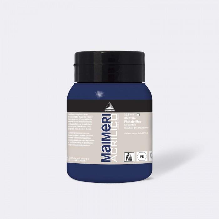 MAIMERI Acrilico 500ml Blauw Phtalo