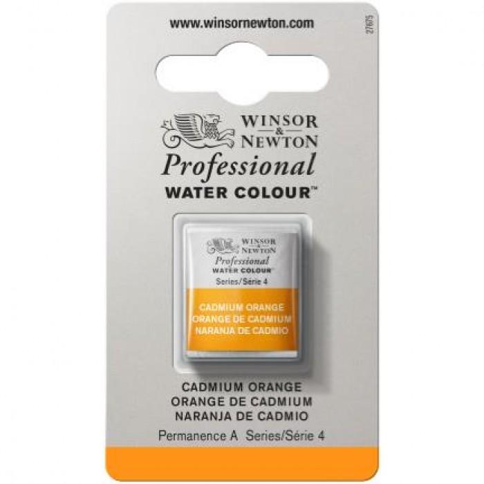 W&N Artist Aquarel 1/2pan Cadmium Oranje