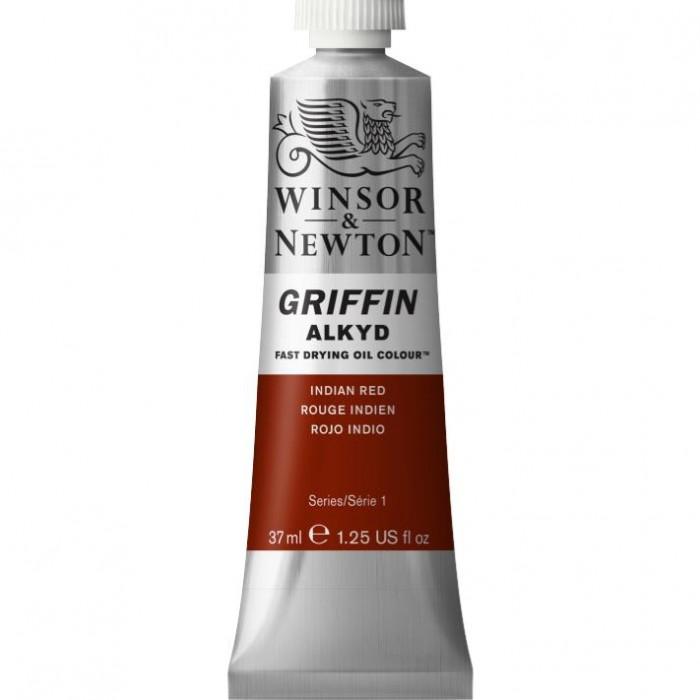 W&N GRIFFIN Alkydverf 37ml  Indisch Rood