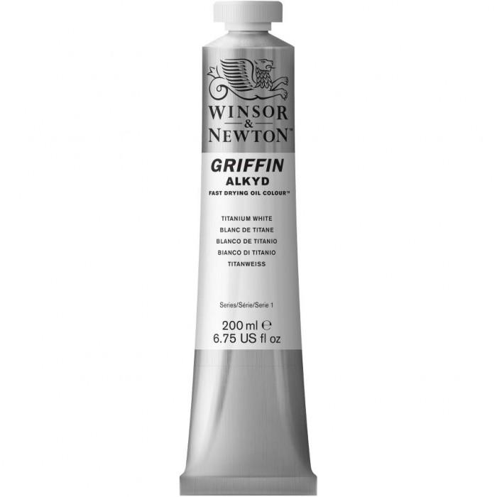 W&N Griffin-Alkydverf 200ml tube Titaanwit