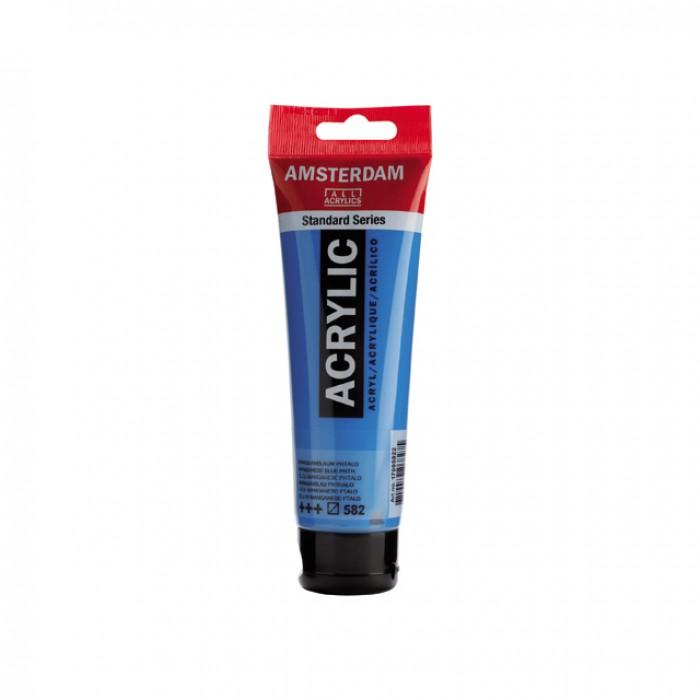 AMSTERDAM Acrylverf 120ml Mangaanblauw Phtalo
