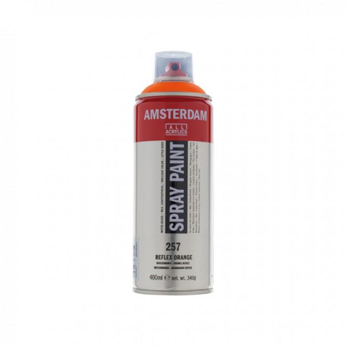 AMSTERDAM Acrylverf Spray 400ml Fluo Oranje