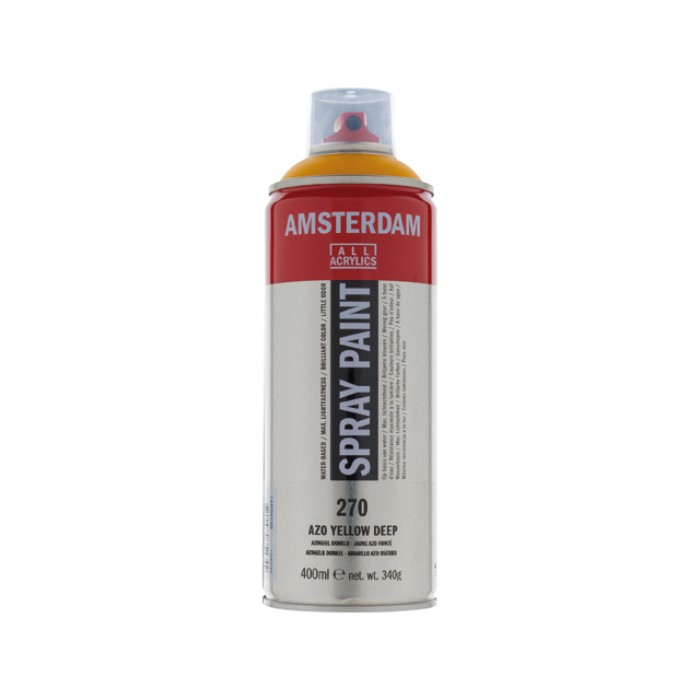 AMSTERDAM Acrylverf Spray 400ml Geel Donker AZO