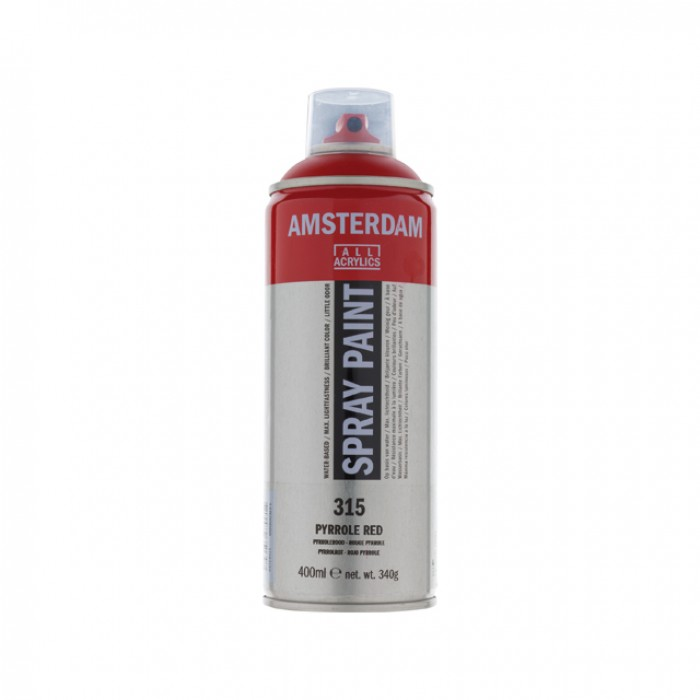 AMSTERDAM Acrylverf Spray 400ml Pyrollerood