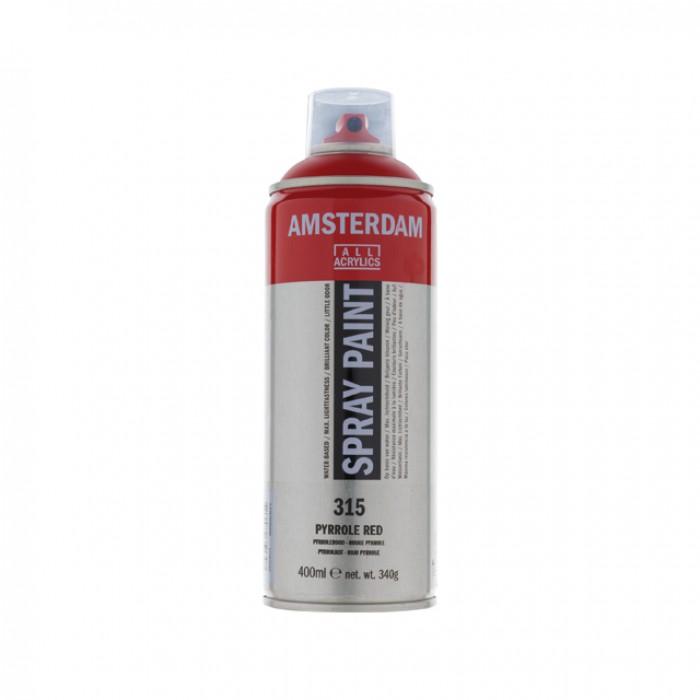 AMSTERDAM Acrylverf Spray 400ml Karmijn Roo