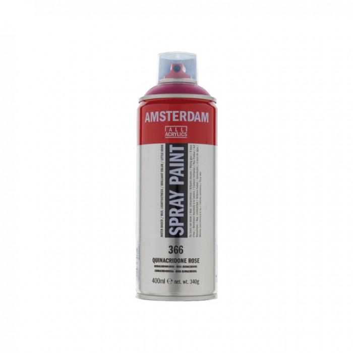 AMSTERDAM Acrylverf Spray 400ml Rose Quinacridone