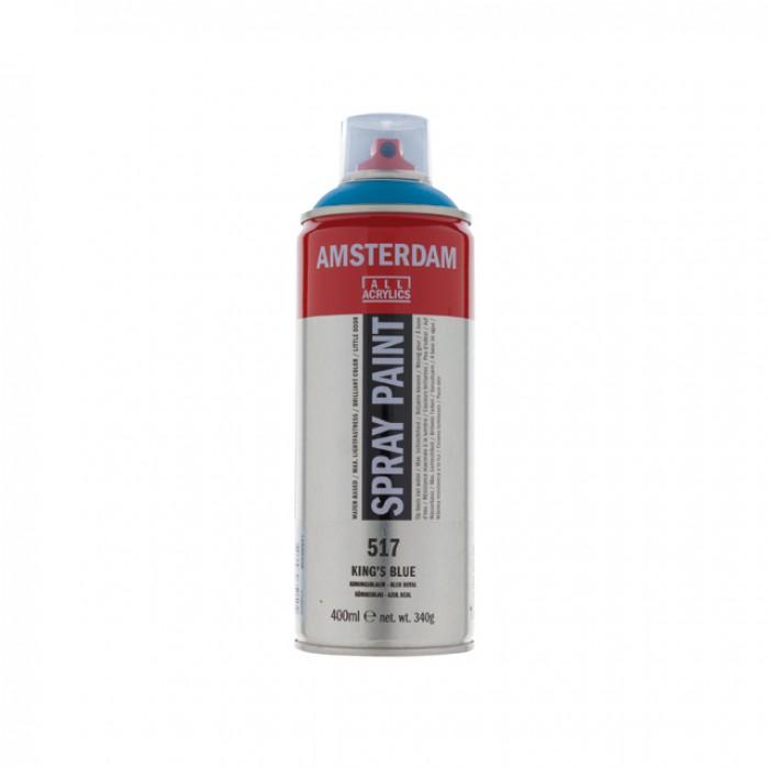 AMSTERDAM Acrylverf Spray 400ml Koningsblauw