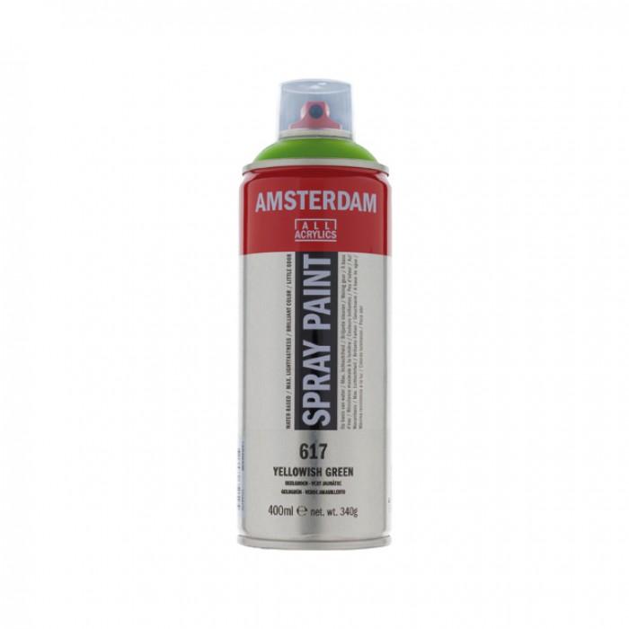 AMSTERDAM Acrylverf Spray 400ml Geelgroe
