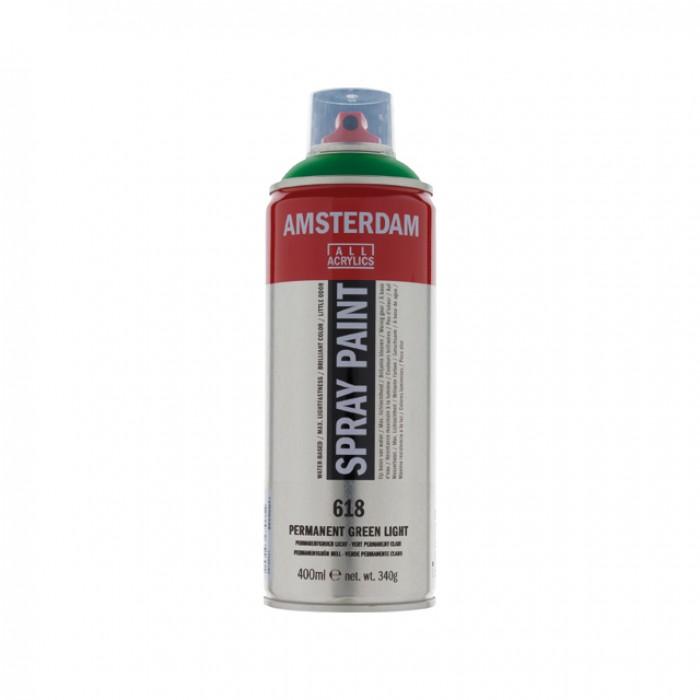 AMSTERDAM Acrylverf Spray 400ml Groen Permanen