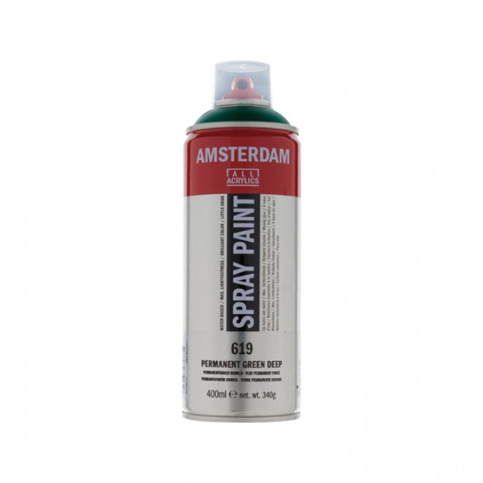 AMSTERDAM Acrylverf Spray 400ml Groen Permanent D