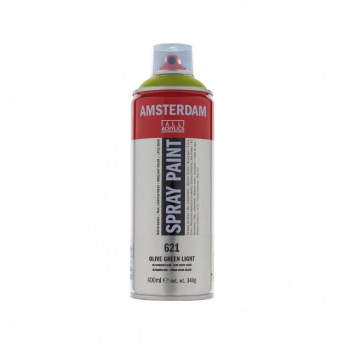 AMSTERDAM Acrylverf Spray 400ml Olijfgroen Licht