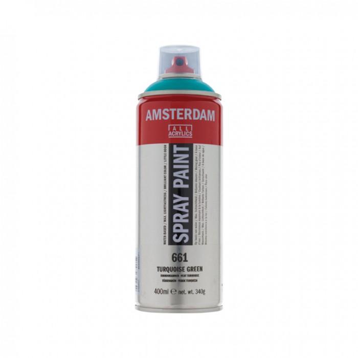 AMSTERDAM Acrylverf Spray 400ml Turkoois Groen