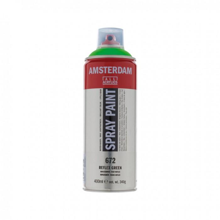 AMSTERDAM Acrylverf Spray 400ml Fluo Groen