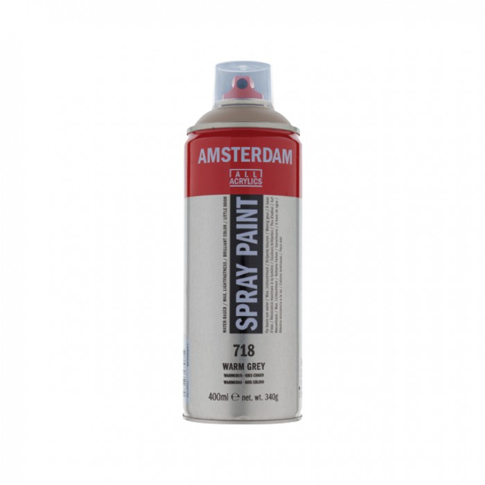 AMSTERDAM Acrylverf Spray 400ml Warm Grij