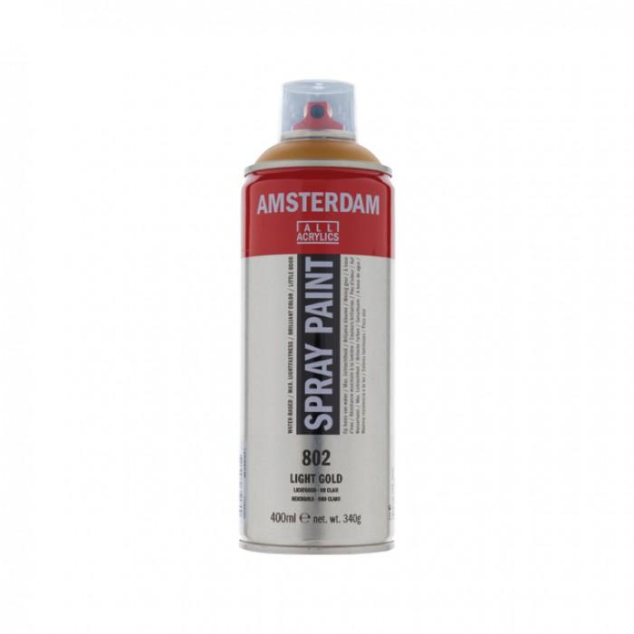 AMSTERDAM Acrylverf Spray 400ml Goud Licht