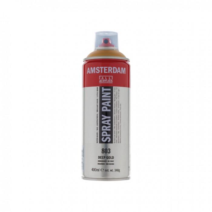 AMSTERDAM Acrylverf Spray 400ml Goud Donker