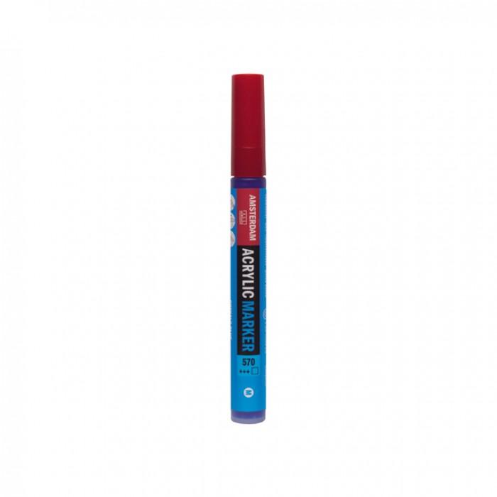 AMSTERDAM Acrylverf Marker 4mm Blauw Phtalo