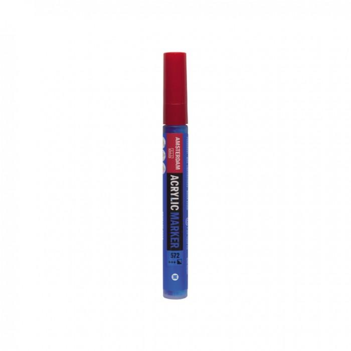 AMSTERDAM Acrylverf Marker 4mm Primair Cyaan
