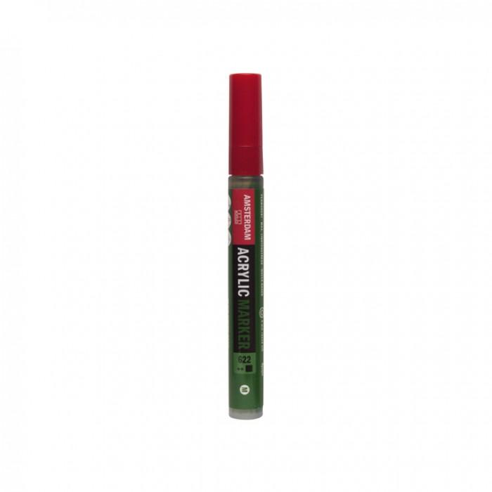 AMSTERDAM Acrylverf Marker 4mm Olijfgroen Donker