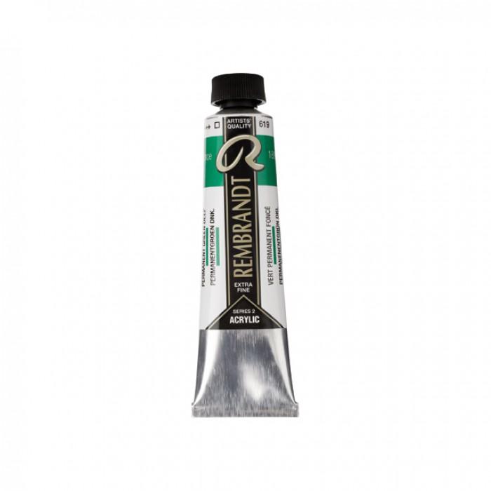REMBRANDT Acrylverf 40ml Permanent Groen Donker