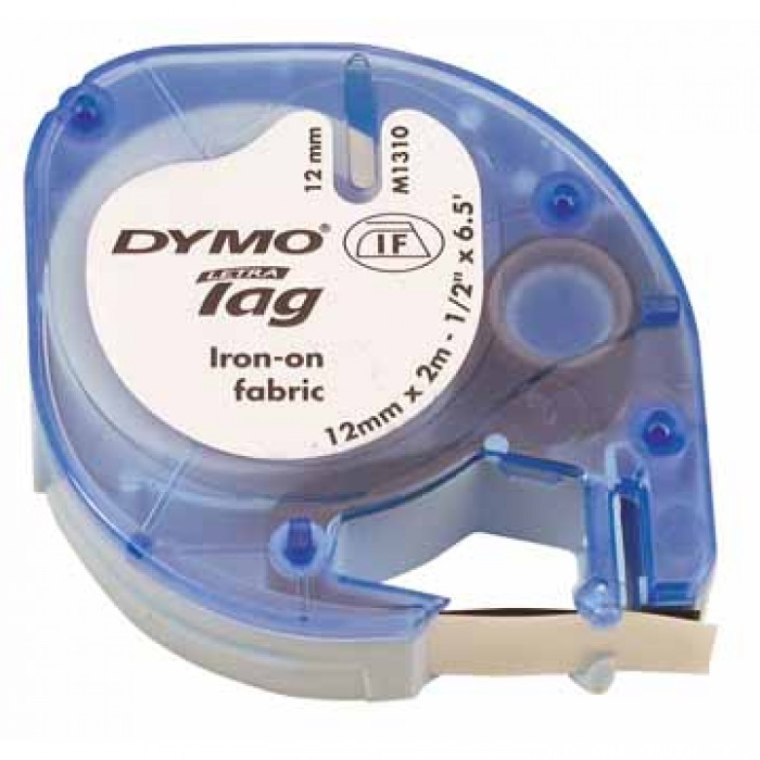DYMO Letra Tag tapes witte opstrijktape plastic, f