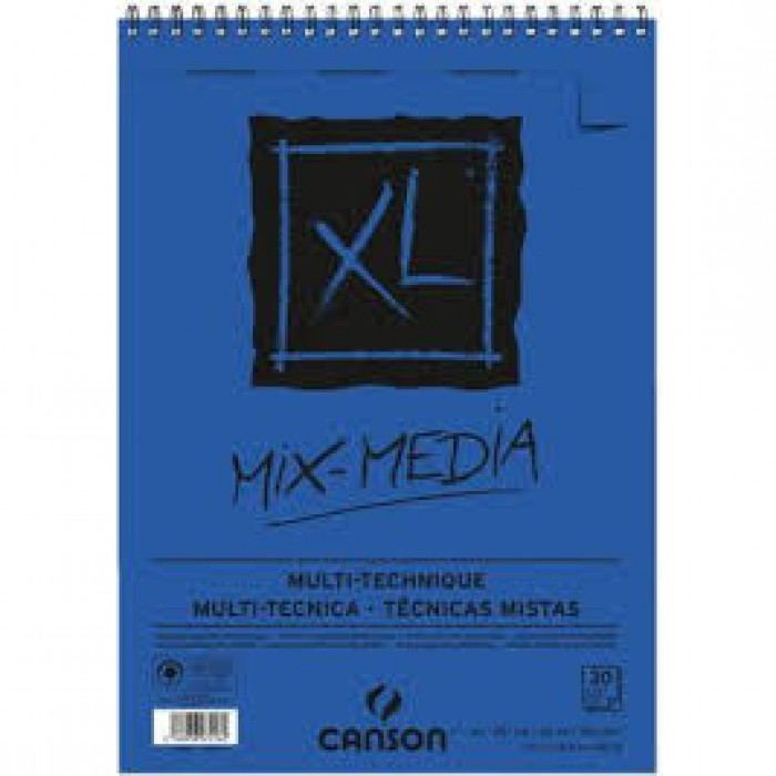 CANSON Gespiraleerd 30Xl  Mix Media A3 300gr Fijne