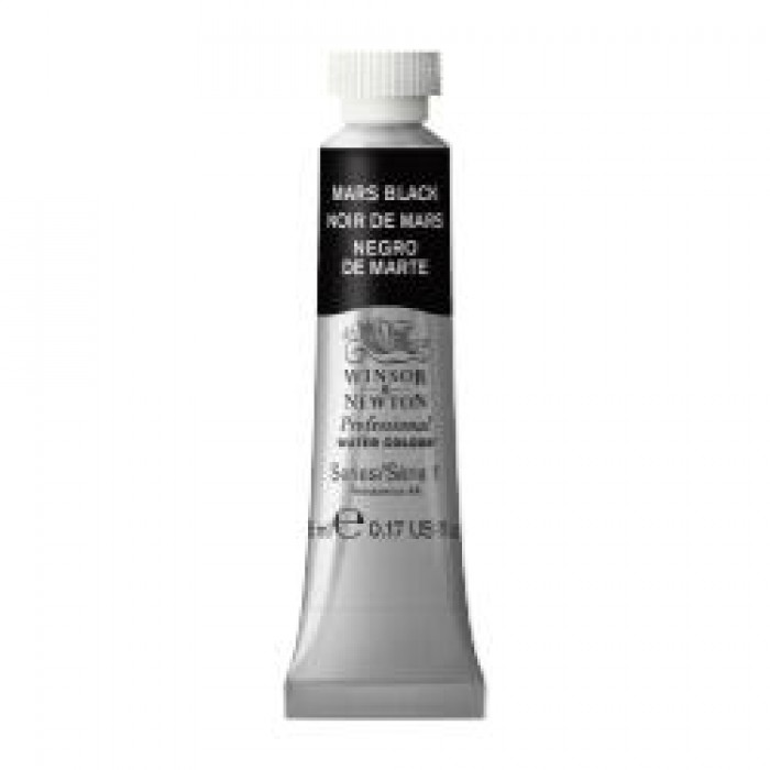 W&N Aquarelverf tube 5ml Marszwart