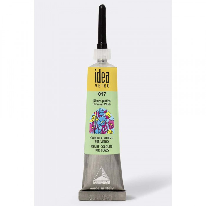 IDEA Tube 20ml Relief voor Glas Wit Platina