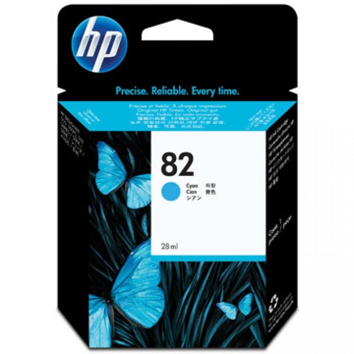 HP Inkcartidge 82  Inhoud: 69ml Cyaan