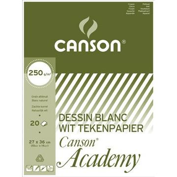 CANSON Academy 27x36cm 250gr Wit Blok 20vel