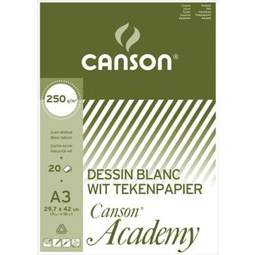 CANSON Academy 250gr Wit Blok 20vel A3