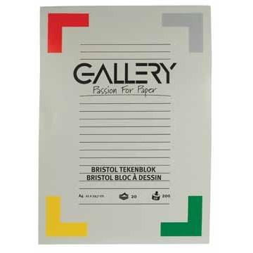 GALLERY Tekenblok Bristol 200gr A4 20vel