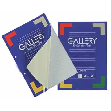 GALLERY Cursusblok Gelijnd A4 80gr