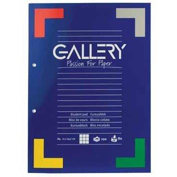 GALLERY Cursusblok Geruit 5mm A4 80gr
