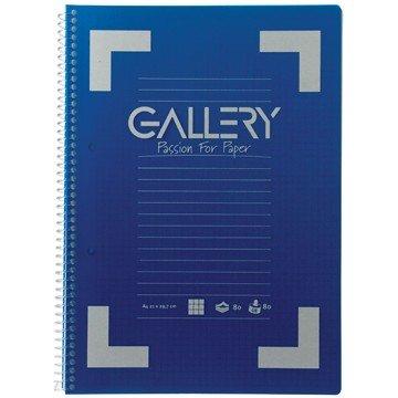 GALLERY Schrift Spiraal 80vel A4 Geruit
