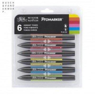 W&N Promarker 6st Levendig Tinten