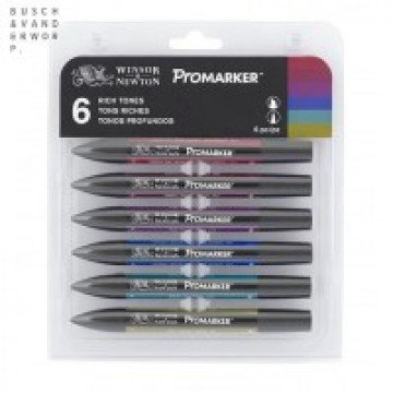 W&N Promarker 6st Rijke Tinten