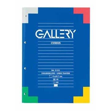GALLERY Cursusblok 70gr A4 Geruit 4G