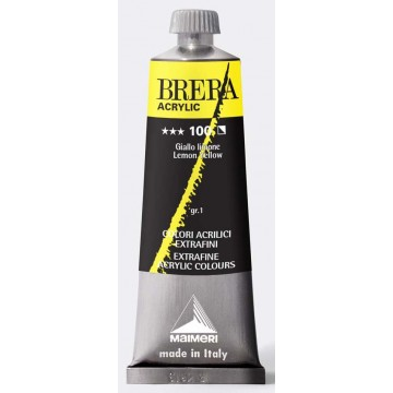 BRERA Acrylverf 60ml Serie1 Citroengeel